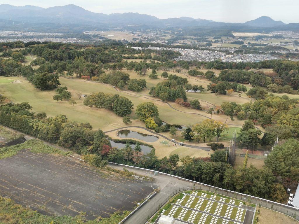 12階からの眺めゴルフ場