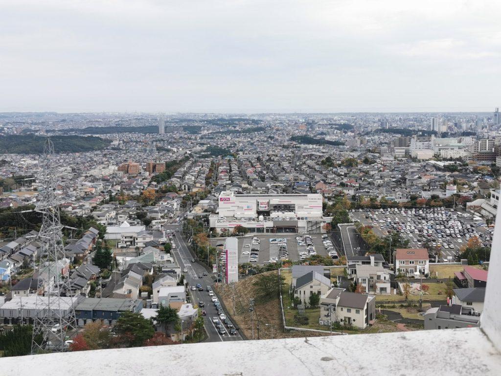 12階からの眺め仙台の街並み