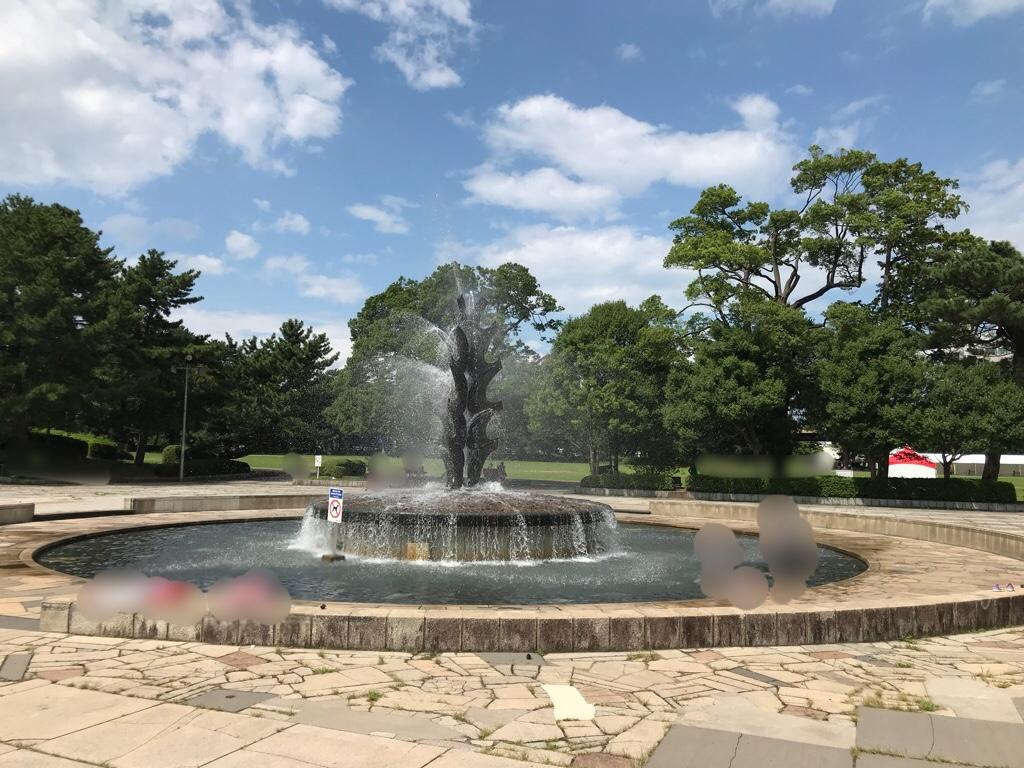 榴岡公園の噴水