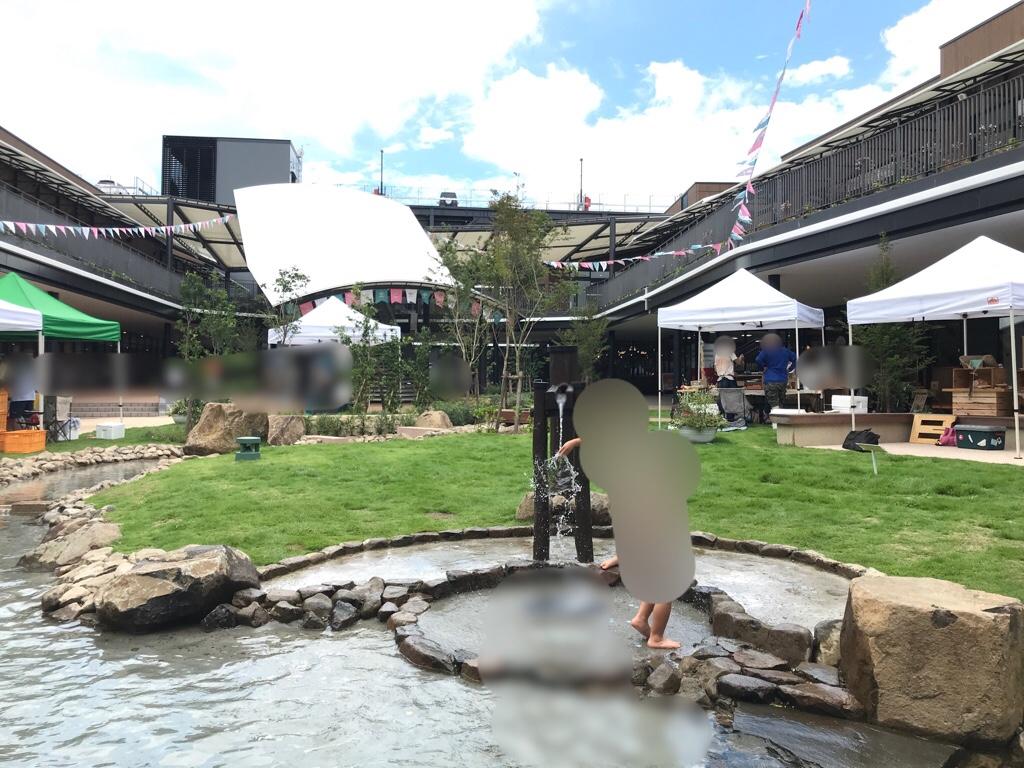 ブランチ仙台の水遊び