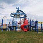 岩沼海浜緑地のコンビネーション遊具