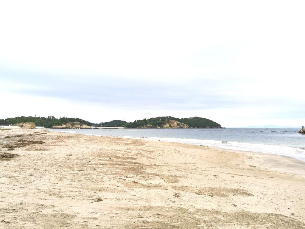菖蒲田浜の海岸線